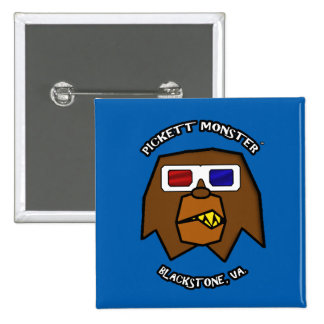PICKETT MONSTER - 3D GLASSES 15 CM SQUARE BADGE