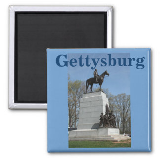 Pickett's Charge at Gettysburg Square Magnet