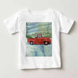 Picking up the Tree for Christmas Baby T-Shirt