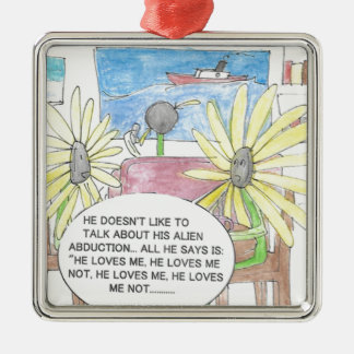 Picking Your Love Metal Ornament