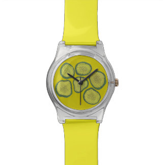 Pickle Chips Green Kosher Dill Pickle Chip Design Watch