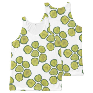 Pickle Chips Green Kosher Dill Pickle Chip Print All-Over Print Singlet