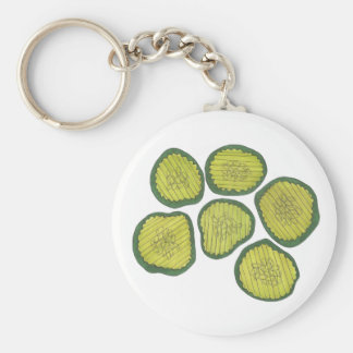 Pickle Chips Green Kosher Dill Sweet Pickle Foodie Key Ring