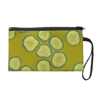 Pickle Chips Sweet Pickles Food Kosher Dill Design Wristlet Clutches