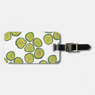 Pickle Chips Sweet Pickles Food Kosher Dill Print Luggage Tag
