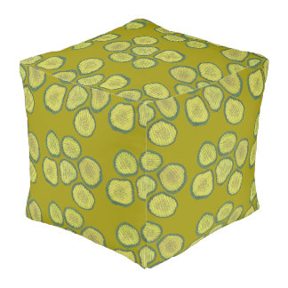 Pickle Chips Sweet Pickles Food Kosher Dill Print Pouf