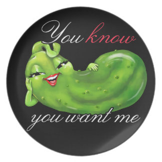 Pickle lovers collectors - a cute pickle! plate