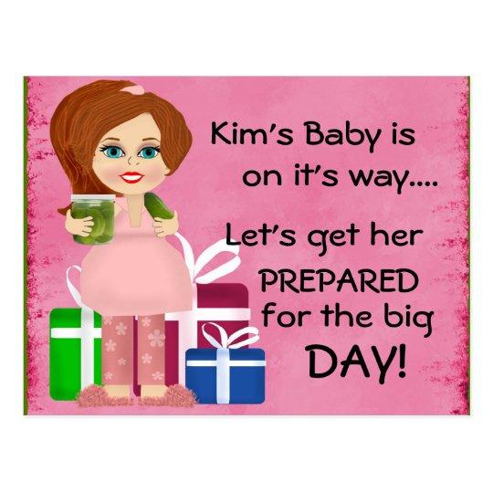 Pickle Mummy Baby Shower Invitation Card
