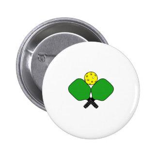 Pickleball 6 Cm Round Badge