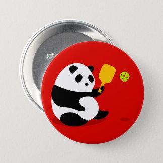 "Pickleball Button: ""Pickleball Panda"" 7.5 Cm Round Badge"