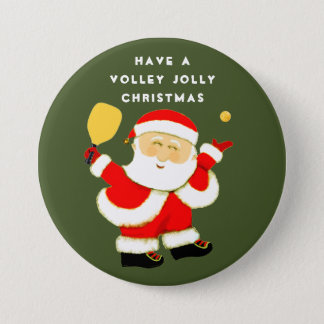 Pickleball Christmas 7.5 Cm Round Badge