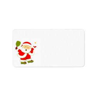 pickleball Christmas Label