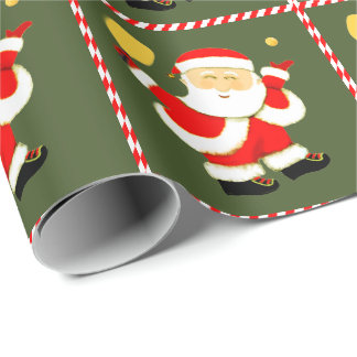 Pickleball Christmas Wrapping Paper