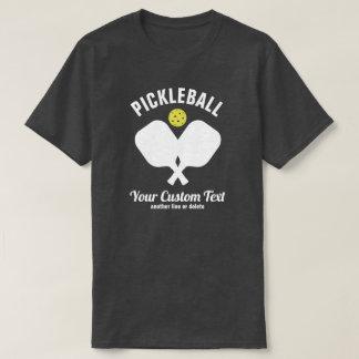 Pickleball Club Pickleball Paddle & Ball Custom T-Shirt
