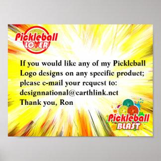 Pickleball Design Request Poster
