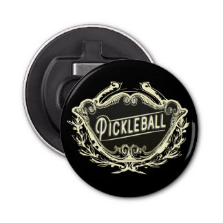 Pickleball Elegant Vintage Bottle Opener