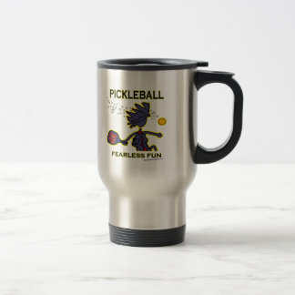 Pickleball Fearless Fun Travel Mug