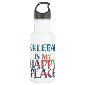 Pickleball Happy Place Water Bottle