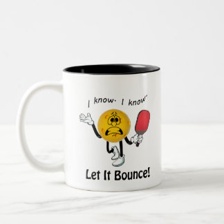 Pickleball: Let It Bounce Two-Tone Coffee Mug