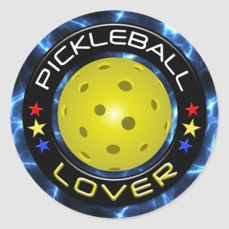 Pickleball Lover 1 Options Classic Round Sticker