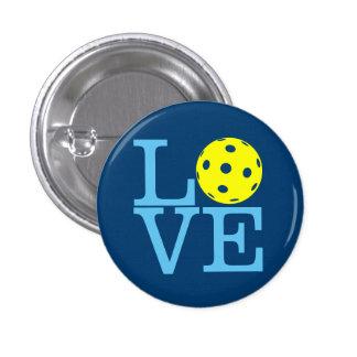 Pickleball Mini Button: LOVE (Blue) 3 Cm Round Badge