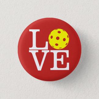 Pickleball Mini Button: LOVE (Red) 3 Cm Round Badge