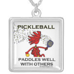 Pickleball Paddles Well With Others Personalised Necklace