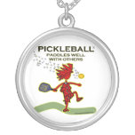 Pickleball Paddles Well With Others Pendants