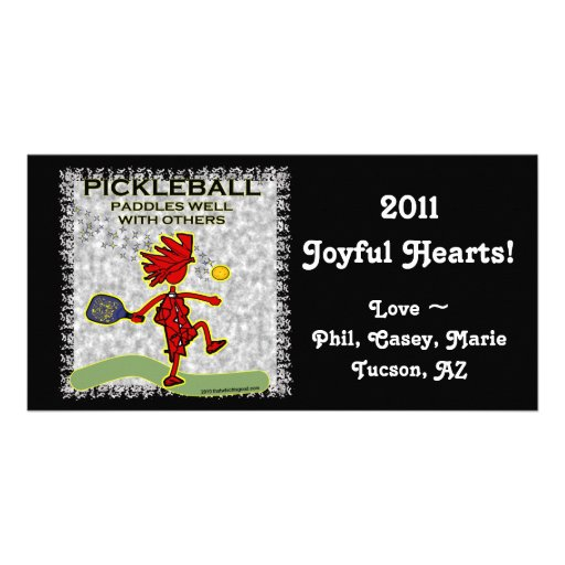 Pickleball Paddles Well With Others Photo Greeting Card
