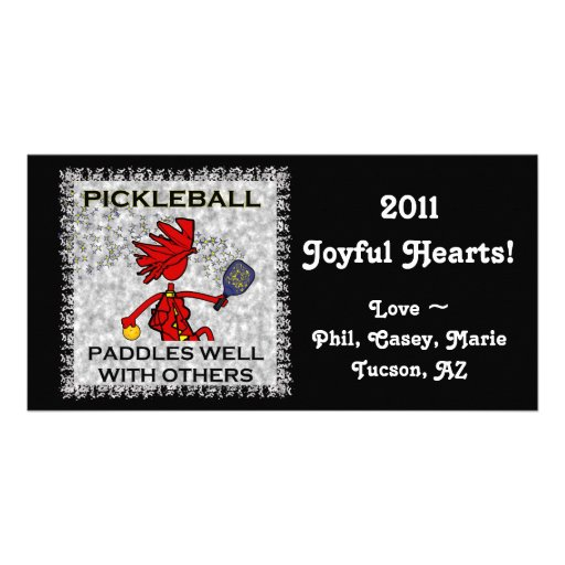 Pickleball Paddles Well With Others Customized Photo Card
