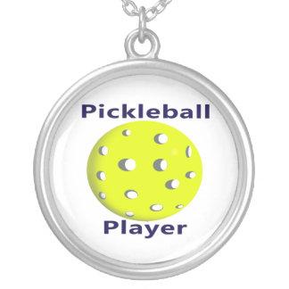 Pickleball Player Blue Text Yellow Ball Design Custom Jewelry