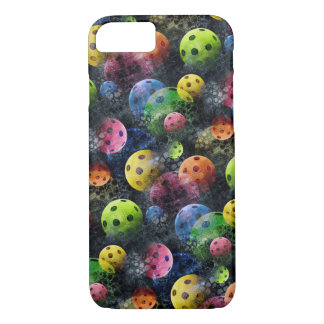 Pickleball print, Neon Green, Blue, Black iPhone 8/7 Case