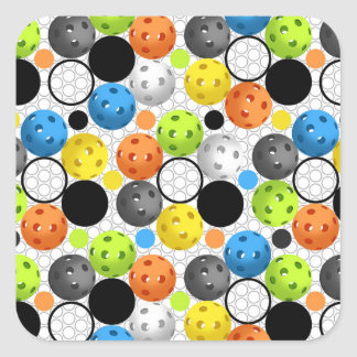 Pickleball print with Polka Dots Square Sticker