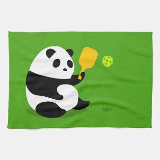 "Pickleball Sports Towel: ""Pickleball Panda"" Tea Towel"