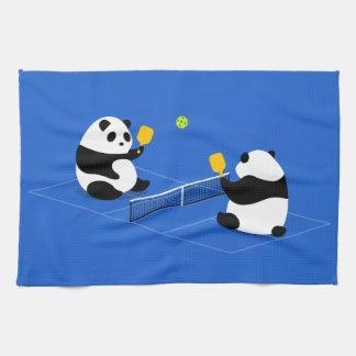 "Pickleball Sports Towel: ""Pickleball Pandas"" Tea Towel"