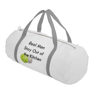 Pickleball -- stay out of the kitchen! gym duffel bag