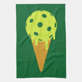 Pickleball Summer Ice Cream Cone Sports Towel