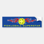 Pickleball Superstar Bumper Sticker