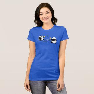 """Pickleball T-shirt: """"Pickleball Pandas"""" (Blue) T-Shirt"""