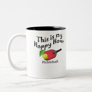 Pickleball: This is my Happy Hour Two-Tone Coffee Mug