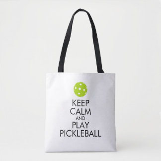 Pickleball Tote Bag -Keep Calm and Play Pickleball