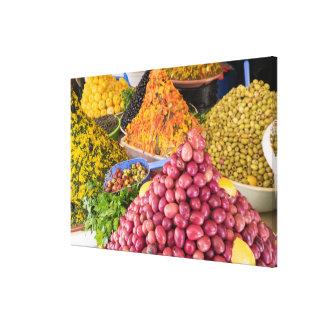 Pickled Food At Market Canvas Print