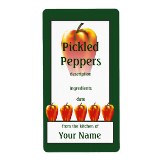 Pickled Orange Bell Peppers Cook's Canning Label Shipping Label
