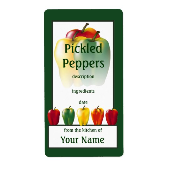 Pickled Peppers Cook's Canning Label