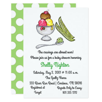 Pickles and Ice Cream Baby Shower Card