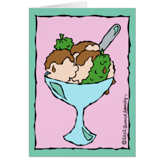 Pickles and Ice Cream Congratulations on Pregnancy Card