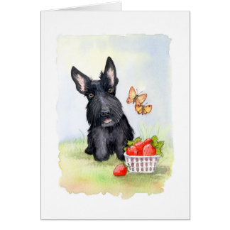 Pickles and strawberries Scottie Card