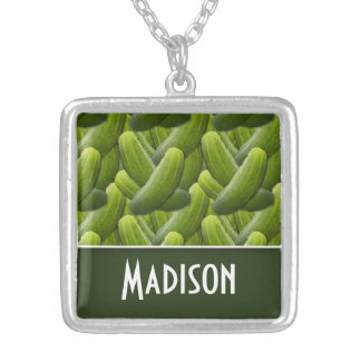 Pickles; Pickle Pattern Silver Plated Necklace