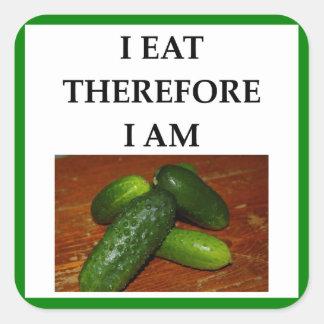 pickles square sticker
