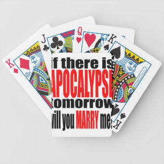 pickup line apocalypse tomorrow marriage proposal bicycle playing cards